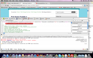 Screenshot of JavaScript Showing jQuery is undefined when using W3 Total Cache